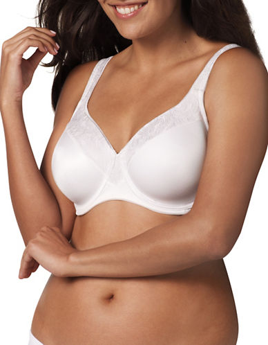 Playtex Slimming Underwire Bra-WHITE-40DD
