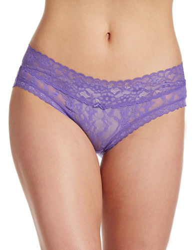 Dkny Signature Lace Hipster Briefs-DEEP PURPLE-Small