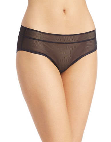 Dkny Stretch Lace Bikini Briefs-BLACK-Small