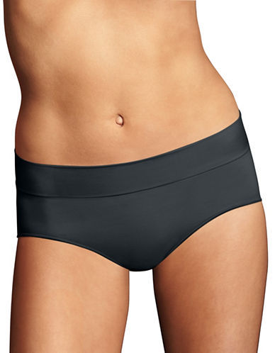 Maidenform Smooth Seamless Hipster Panties-BLACK-8