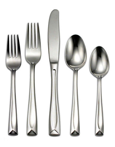 Oneida Lincoln 45 Piece Flatware Set-SILVER-One Size
