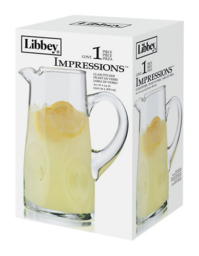 Libbey Embossed Impressions Pitcher-CLEAR-One Size