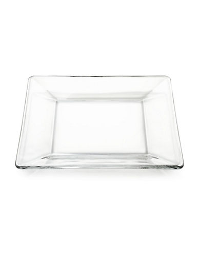 Libbey Tempo Square Dinner Plate-CLEAR-One Size