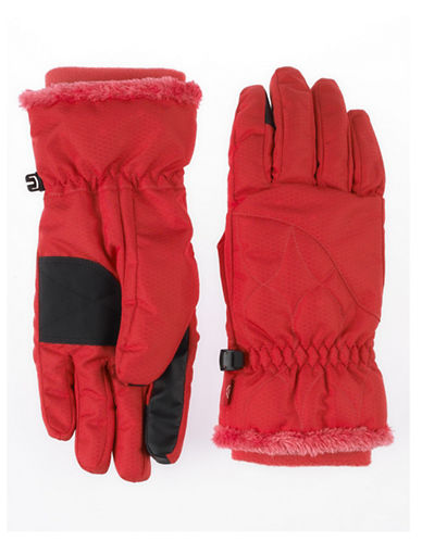 Isotoner smarTouch Waterproof Ski Gloves-PINK-Large