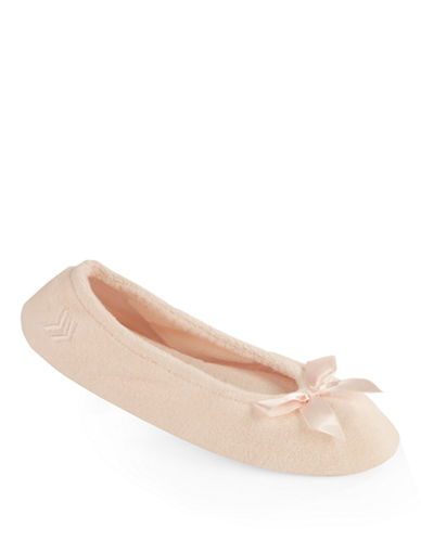Isotoner Stretch Terry Ballerina Slippers-PINK-Large