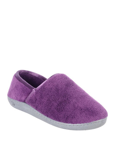 Isotoner Plush Slippers-PURPLE-Large