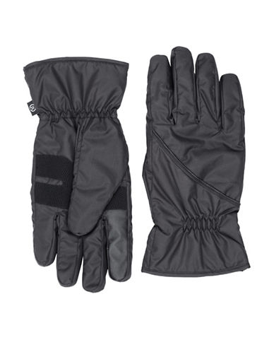 Isotoner SmarTouch Soft Pieced Gloves-BLACK-Large/X-Large