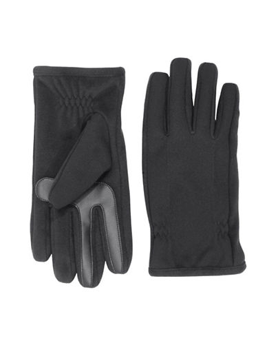 Isotoner SmarTouch Stretch Fleece Tech Gloves-BLACK-Medium