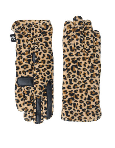 Isotoner Soft Fleece Touchscreen Gloves-LEOPARD-One Size