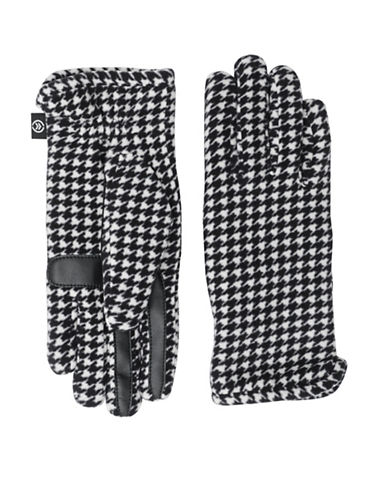 Isotoner Soft Fleece Touchscreen Gloves-HOUNDSTOOTH-One Size