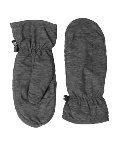 Isotoner Sleekheat Touchscreen Gloves-HEATHER BLACK-Small