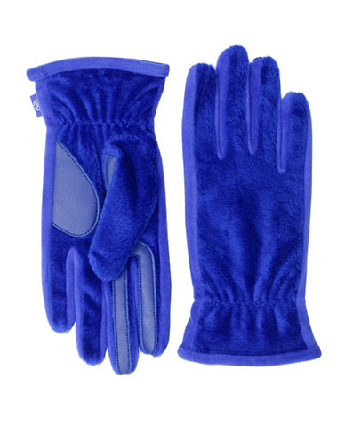 Isotoner SmarTouch Teddy Fleece Gloves-BLUE NOTE-One Size