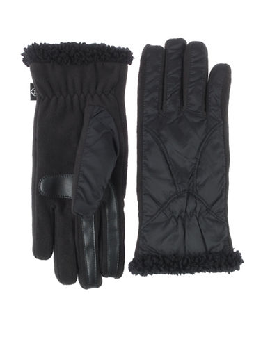 Isotoner SmarTouch Sport Gloves-BLACK-Large/XLarge