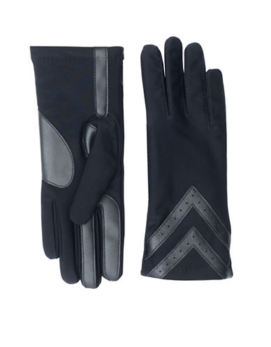 Isotoner Classic SmarTouch Gloves-BLACK-Small/Medium