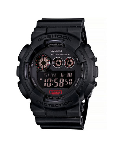 Casio Military Black Resin Digital Watch-BLACK-One Size