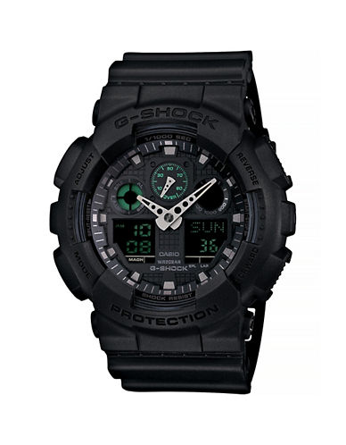 Casio Military Black Analogue and Digital Combo Watch-BLACK-One Size