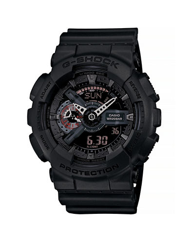 Casio Military Black  Matte Resin Watch-BLACK-One Size