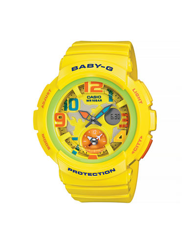 Casio Analog Baby G Dual World Time Watch-YELLOW-One Size