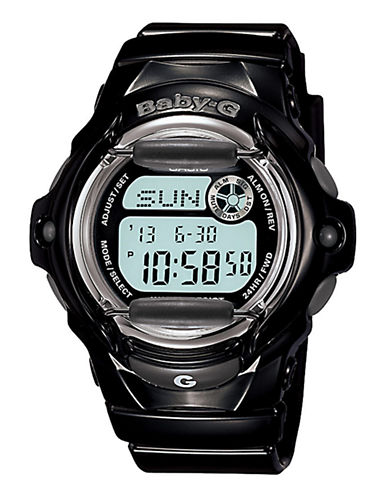 Casio Women's Baby-G Black Watch-BLACK-One Size