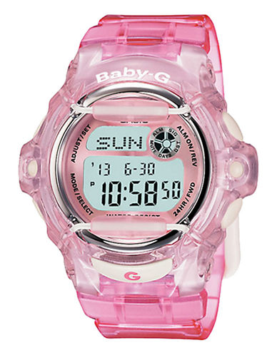 Casio Women's Baby G Pink Watch-PINK-One Size