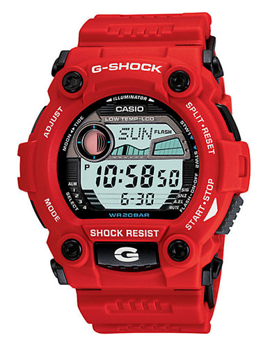 Casio Mens G-Shock Rescue Watch-RED-One Size