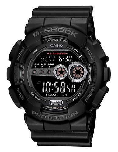 Casio GS Big Case Neg LCD Watch-BLACK-One Size