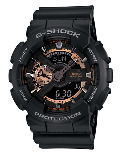 Casio G-Shock Rose Gold Watch-BLACK-One Size