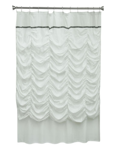Jessica Simpson Grace Shower Curtain-WHITE-One Size