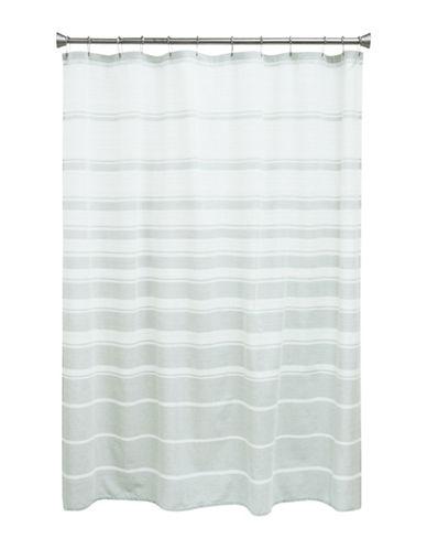 Bacova Guild Drake Shower Curtain-GREY-One Size