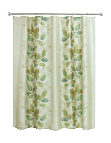 Bacova Guild Waterfall Leaves Shower Curtain-GREEN-One Size