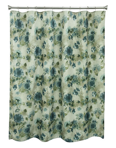 Bacova Guild Landon Floral Shower Curtain-MULTI-COLOURED-One Size
