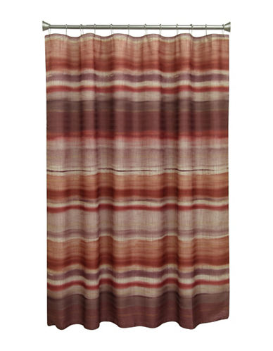 Bacova Guild Sheridan Stripe Shower Curtain-BURGUNDY-One Size