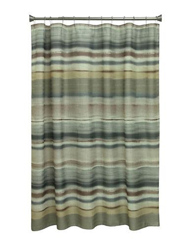 Bacova Guild Sheridan Stripe Shower Curtain-NEUTRAL-One Size