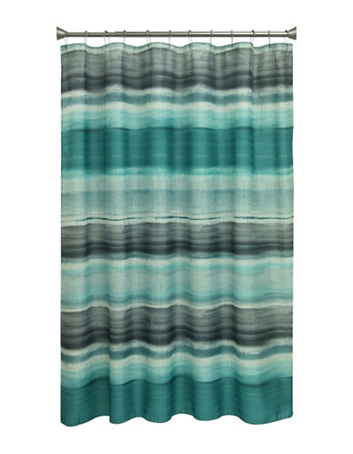 Bacova Guild Sheridan Stripe Shower Curtain-TEAL-One Size