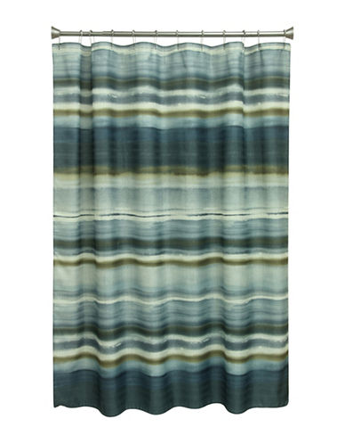 Bacova Guild Sheridan Stripe Shower Curtain-NAVY-One Size