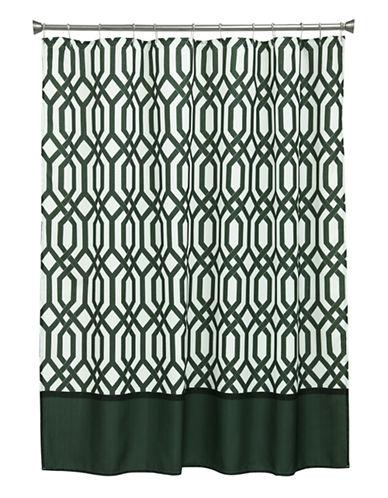 Bacova Guild Theorem Shower Curtain-BLACK-One Size