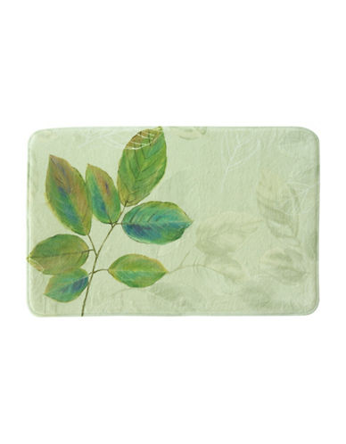 Bacova Guild Waterfall Leaves Bath Rug-GREEN-20x30