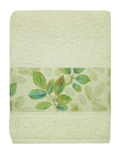 Bacova Guild Waterfall Leaves Hand Towel-GREEN-Hand Towel
