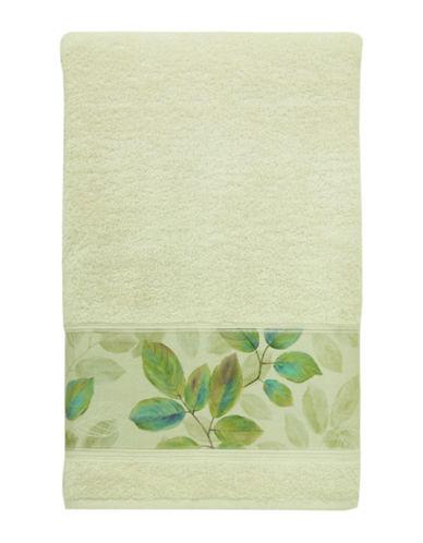 Bacova Guild Waterfall Leaves Cotton Bath Towel-GREEN-Bath Towel