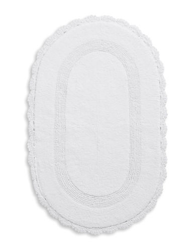 Jessica Simpson Carlin Cotton Bath Rug-WHITE-21x34