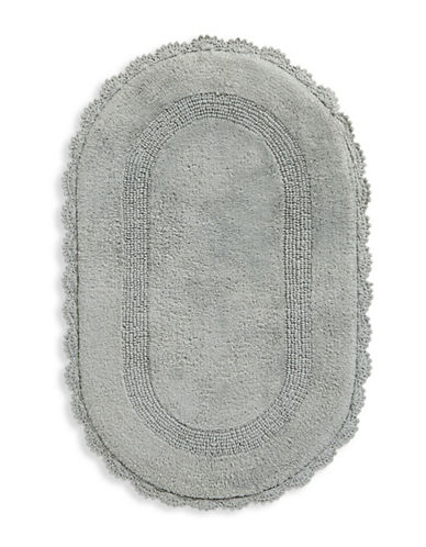 Jessica Simpson Carlin Cotton Bath Rug-GREY-21x34