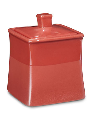 Jessica Simpson Kensley Spice Coral Covered Jar-CORAL-One Size