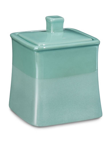 Jessica Simpson Kensley Spice Coral Covered Jar-AQUA-One Size
