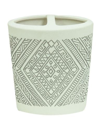 Bacova Guild Cedar Creek Porcelain Toothbrush Holder-OFF WHITE-One Size