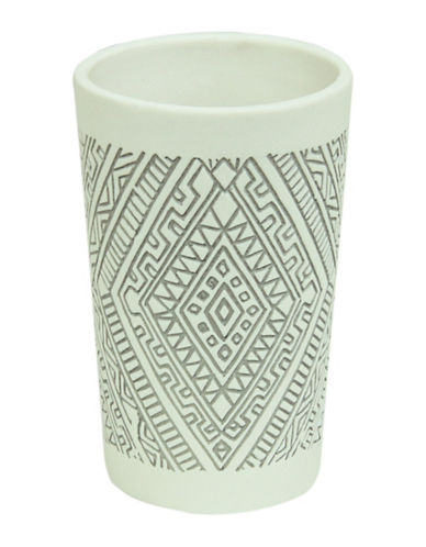 Bacova Guild Cedar Creek Porcelain Tumbler-OFF WHITE-One Size