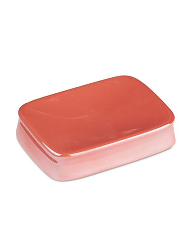 Jessica Simpson Kensley Spice Coral Soap Dish-CORAL-One Size
