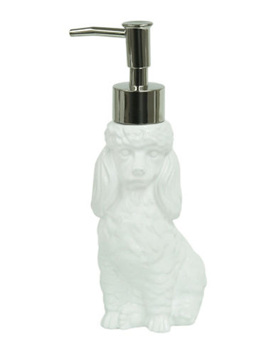 Bacova Guild Poodle Dog Ceramic Lotion Dispenser-WHITE-One Size
