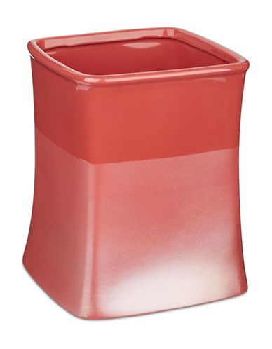 Jessica Simpson Kensley Spice Coral Waste Basket-CORAL-One Size