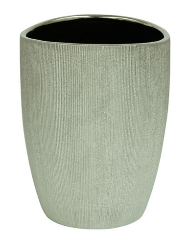 Bacova Guild Drake Wastebasket-GREY-One Size