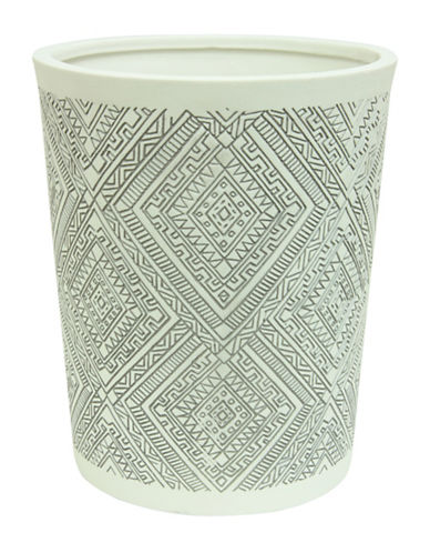 Bacova Guild Cedar Creek Porcelain Wastebasket-OFF WHITE-One Size